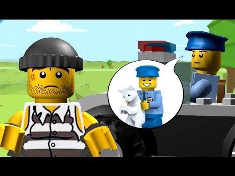Видео для Детей про Полицию - Лего Полицейский и Грабитель - Игра про Машинки