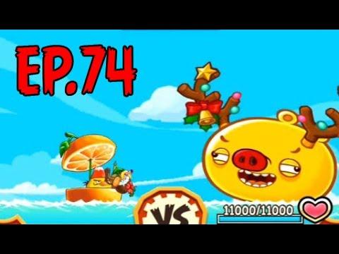 Angry Birds Fight! - MONSTER REINDEER PIG RAID - RARE REINDEER PIG (SS for BLUE) - EP74