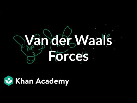 Van der Waals forces | States of matter and intermolecular forces | Chemistry | Khan Academy