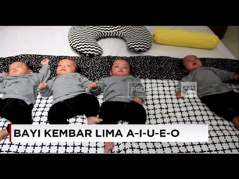 Lucunya Bayi Kembar Lima, A-I-U-E-O di Cirebon