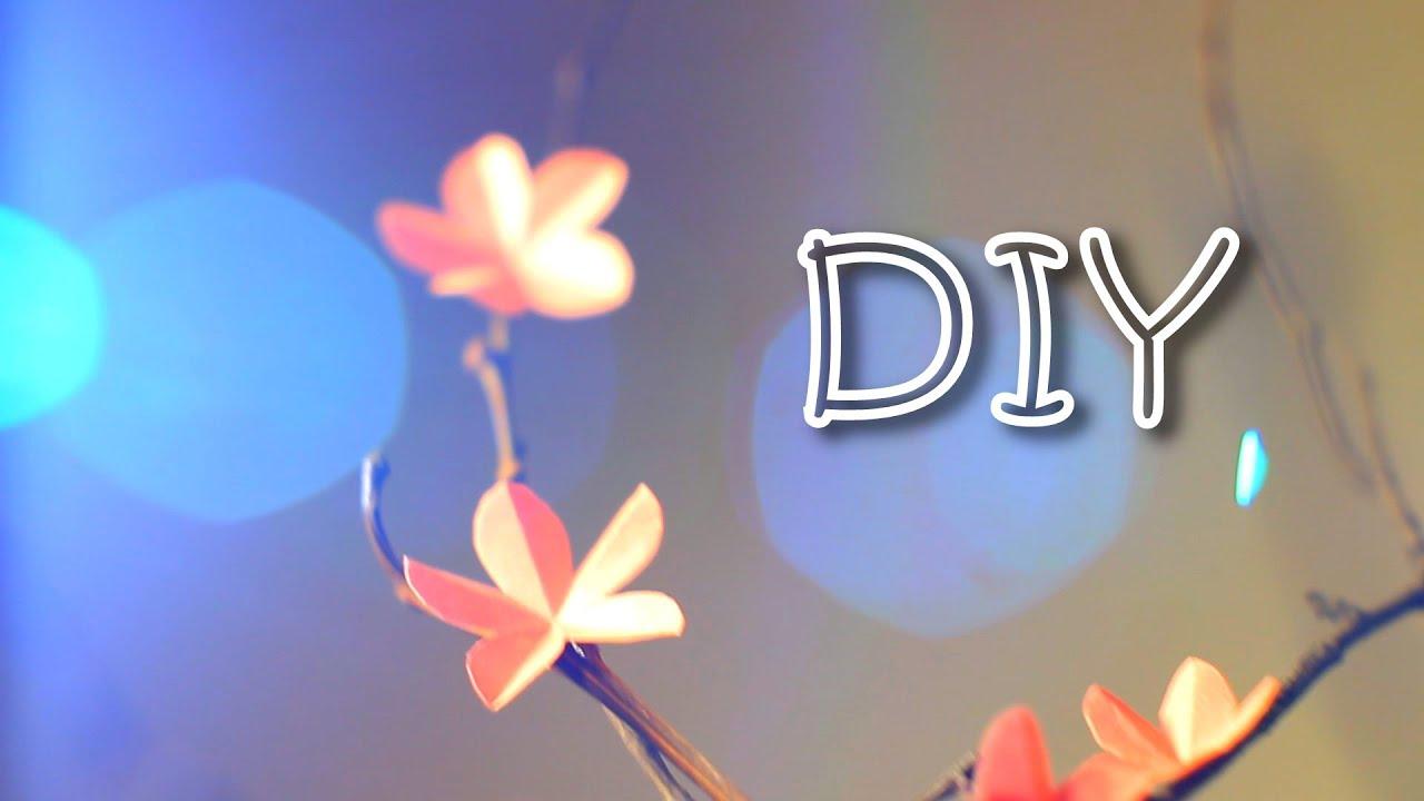 Diy sakura branch with five petal paper flowers how to make diy sakura branch with five petal paper flowers how to make kirigami flowers for japanese cherry youtube mightylinksfo