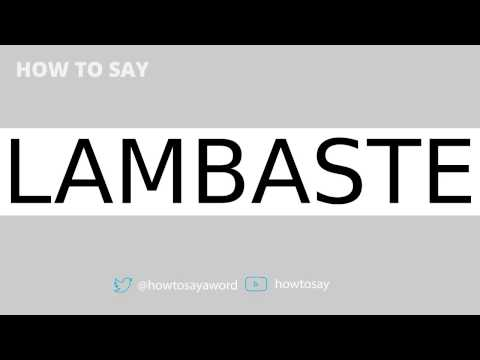 "How to Say ""Lambaste"" Mp3"