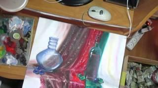 Учусь рисовать стекло Ваза Рюмка(Учусь рисовать только по видео урокам из You Tube. Большое спасибо Всем кто снимает уроки живописи .Особенно..., 2015-12-29T09:04:11.000Z)