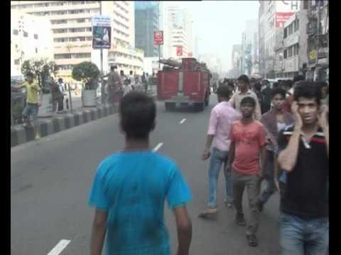 Accident by Fire Service Car at karwan Bazar, Dhaka