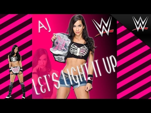 WWE  AJ Lee 4th Theme Song Lets Light It Up Arena Effect + Download 2015