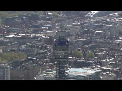 London Aerial Footage - BT Tower