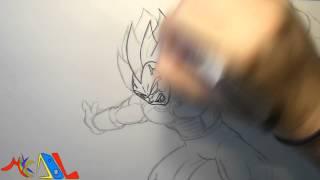 Dibujando a: Vegeta (Final Flash)