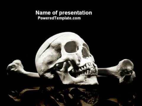 Skull and bone powerpoint template by poweredtemplate youtube toneelgroepblik Image collections