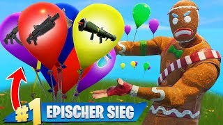 GEWINNEN... aber Ballons bestimmen deinen Loot! (Fortnite Challenge)