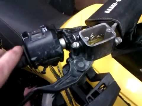 Can Am Renegade 800 >> Can-Am Renegade Brake Lever Reversal Mod. Left Lever Front, Right Lever Back, How to - YouTube