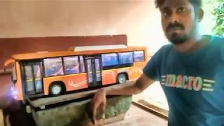 KSRTC JNNURM VOLVO BUS MODEL MADE BY SHYAMKUMAR NJEEZHOOR