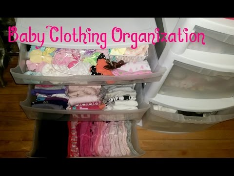 Baby Clothing Organization and Storage on a budget
