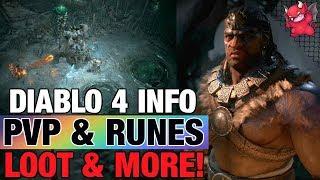 Diablo 4 Pvp, Rune Words, Mythic Items, Progression, Barbarian, Druid, Sorceress Blizzcon 2019