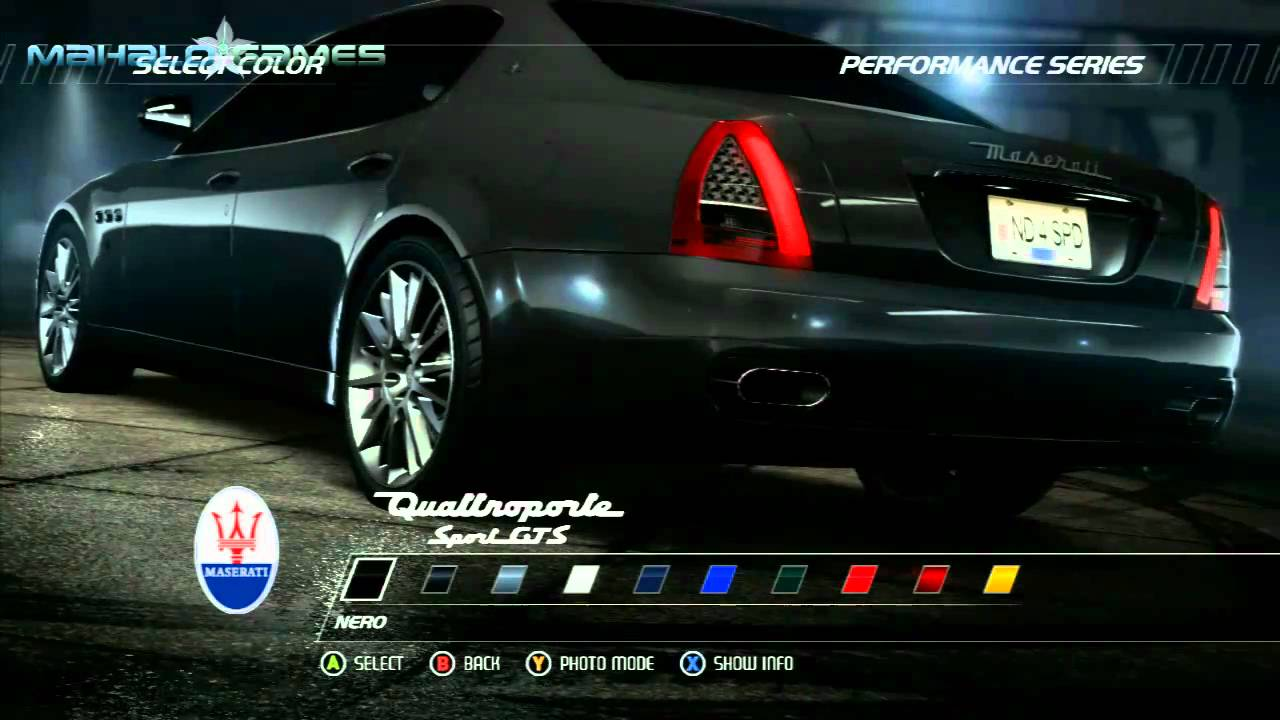 Need For Speed Hot Pursuit  Cars  Maserati Quattroporte Sport GTS