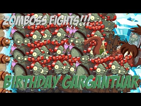 Plants vs Zombies 2 Epic Hack : Birthday Gargantuar vs Each Freakin