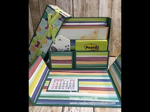 Stationary Box Organizer tutorial w/Stampin Up! DSP