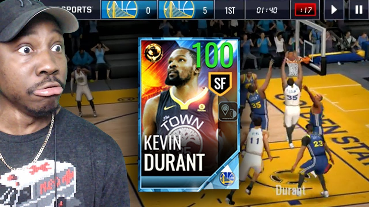 100 OVR FINALS GAME 2 KEVIN DURANT IS UNSTOPPABLE! NBA Live Mobile 18 Gameplay Pack Opening Ep ...