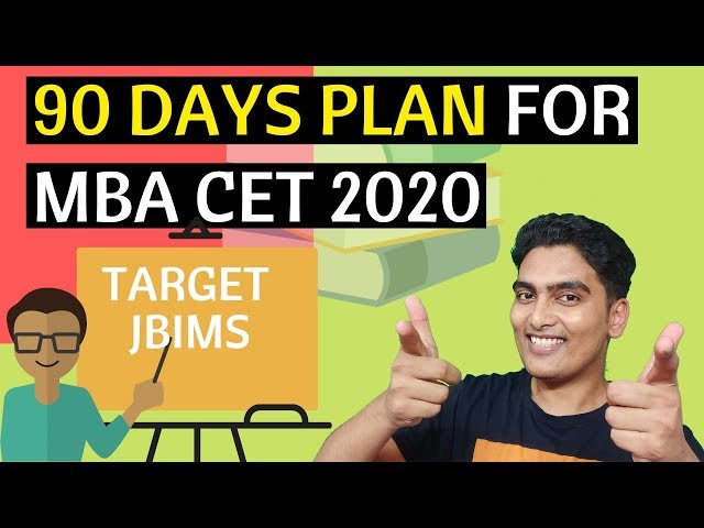 90 Days Plan - MBA CET 2021 Preparation | Free of Cost