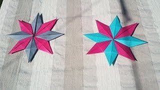HD / TUTO : Faire une étoile en origami - Make an origami star
