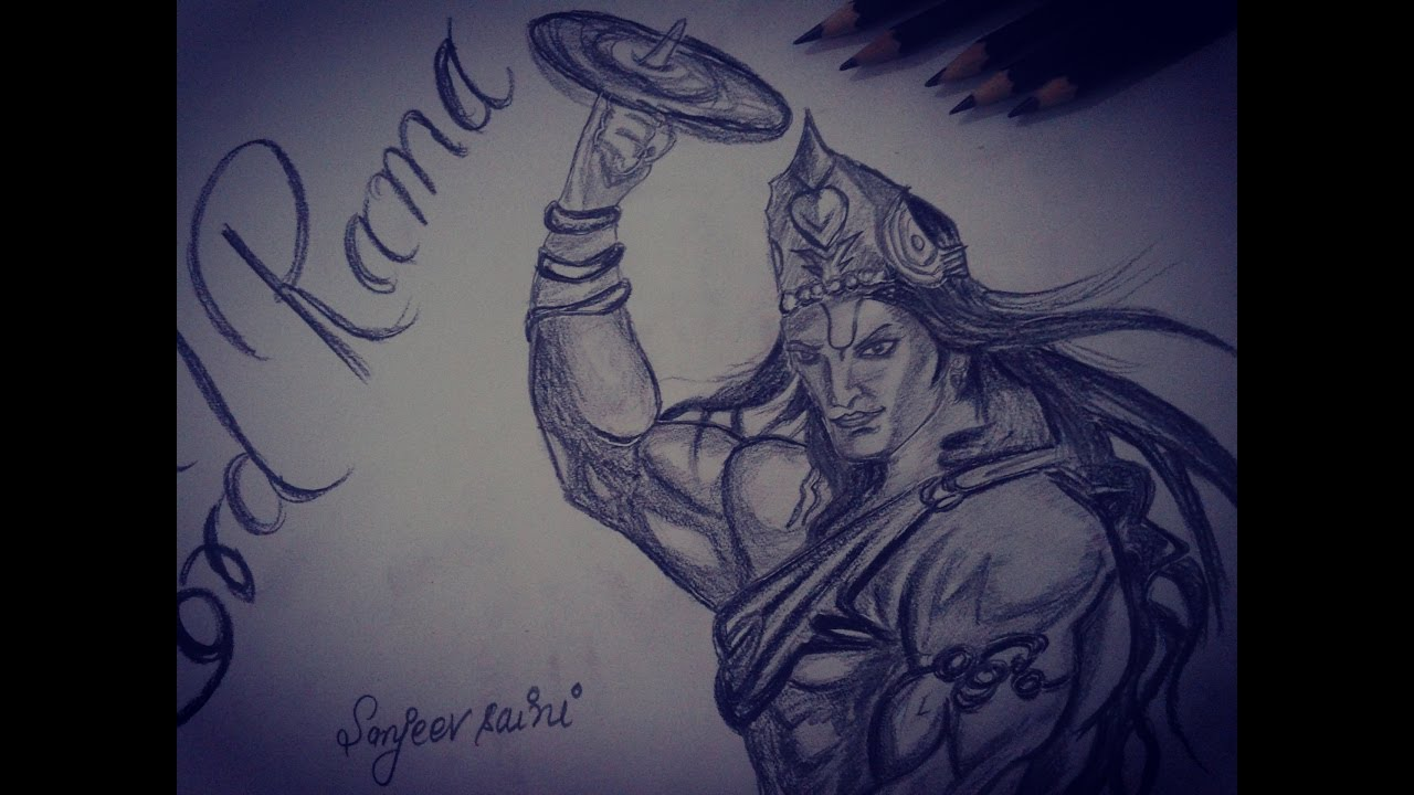 How to draw lord rama pencil drawing shivaay krishna new avatar sketch youtube
