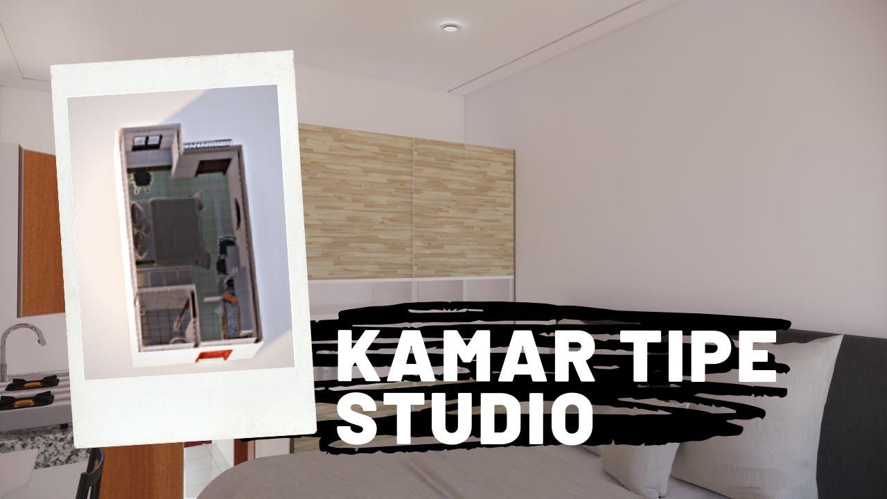 Desain Kamar Apartemen Tipe Studio - YouTube