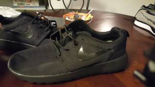 Black Nike Roshe Aliexpress Unboxing and Review