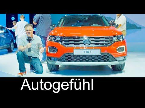 Volkswagen TRoc World Premiere REVIEW & Interviews all-new VW MQB SUV 2018 - Autogefühl