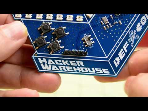 Hands-on the 2017 Hacker Warehouse Unofficial DEF CON Badge