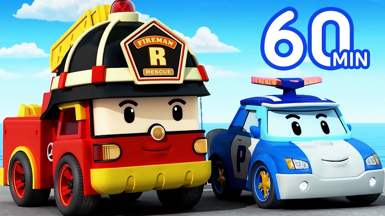 Download Robocar POLI 1 Hour Clip | Rescue from a Cliff | Cartoon for Kids | Robocar POLI TV