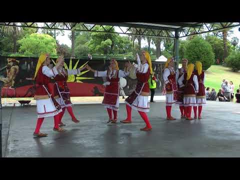 """Macedonian Dancing Group of Adelaide """"Sloboda"""" - Performing at Macedonian Food Festival Footscray"""