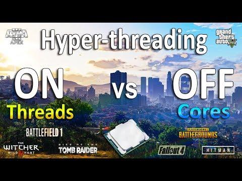 Hyper Threading ON Vs OFF Test In 9 Games (i7 8700k)