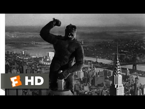 King Kong (1933)- Climbing the Empire State Building Scene (9/10) | Movieclips