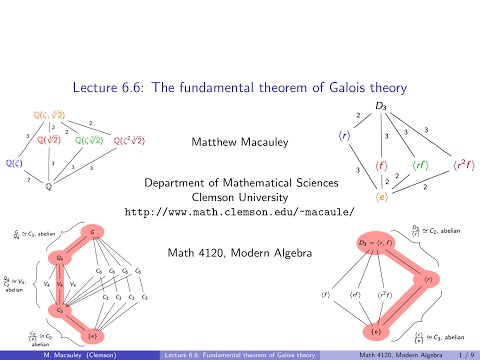 Visual Group Theory, Lecture 6.6: The fundamental theorem of Galois theory