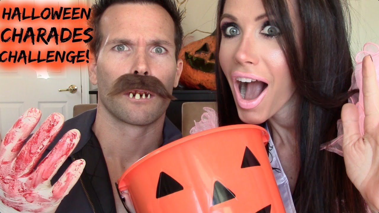 halloween charades challenge!!! - youtube
