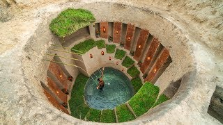Build the Most amazing Secret ancient underground deep pool with secret Underground Tunnel House