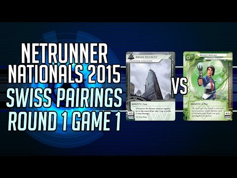 Netrunner Irish Nationals - Swiss Round 1 Game 1