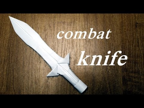 How to make a combat knife out of paper