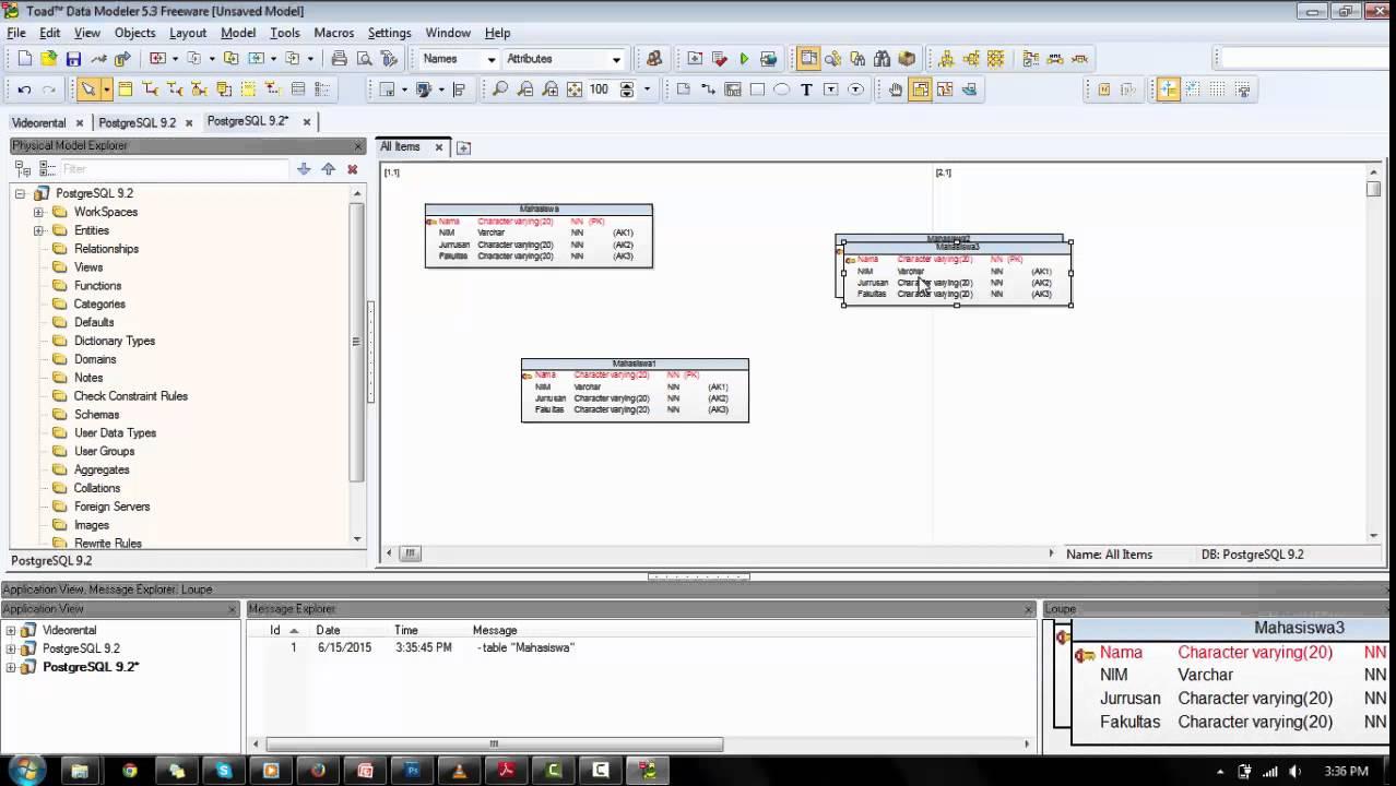Tutorial Toad Data Modeler