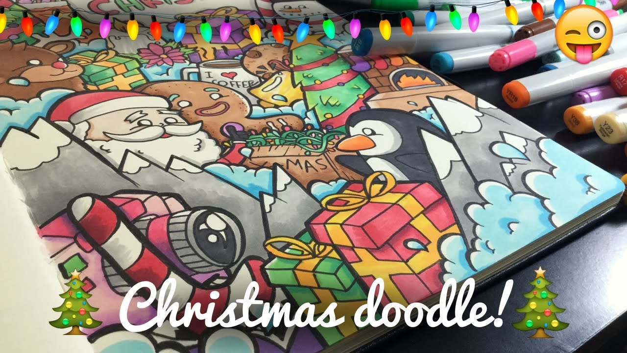 INSANE CHRISTMAS DOODLE! | Copic Marker