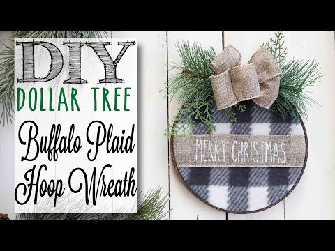 DIY Dollar Tree Christmas Hoop Wreath   7 of 12 Days of Christmas