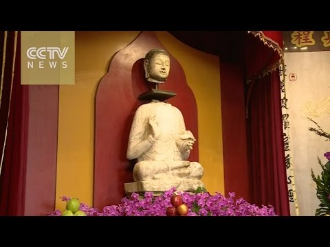 Ceremony for the return of ancient Buddhist sculpture held in Taiwan