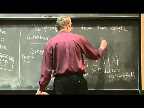 The solution to the sphere packing problem in 24 dimensions...-Stephen Miller