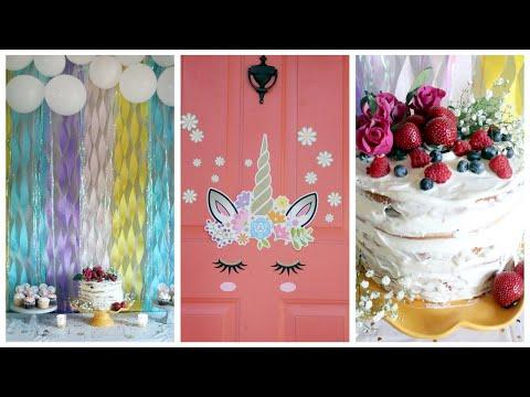 День рождения в стиле ЕДИНОРОГ | Оформление детского праздника, DIY декор, игры, еда и торт