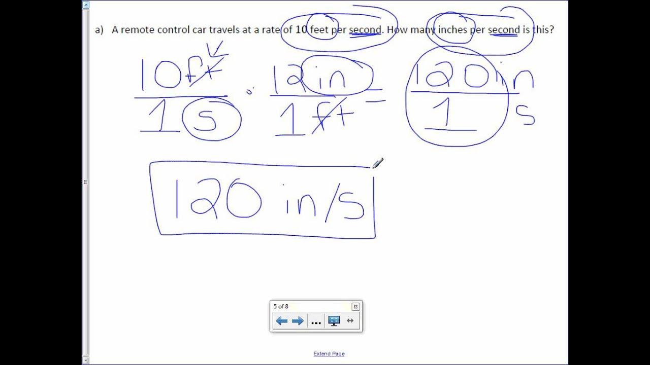 7th Grade 1-3: Convert Unit Rates