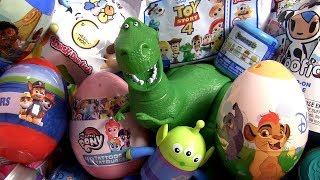 Surprise eggs with Rex Toy Story Lion Guard egg Toy Story 4 surprises