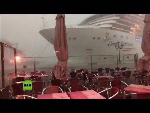 Pánico en un crucero de Venecia