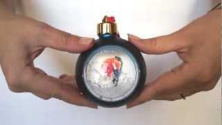 Елочный шар-шкатулка с полем для вставки логотипа