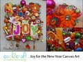 How to Make a Joy for the New Year Mixed Media Canvas by Candace Jedrowicz