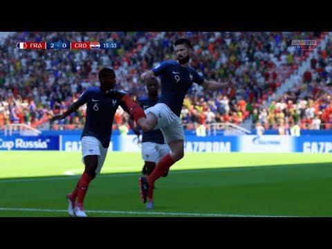 La finale France - Croatie sur FIFA jouée par deux gamers professionnels