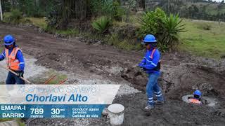 789 metros de alcantarillado sanitario para el barrio Chorlaví Alto.